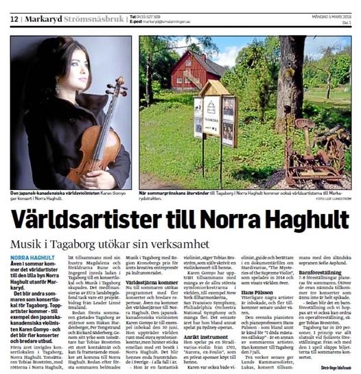 vaarldsartister till norra haghult - musik i tagab