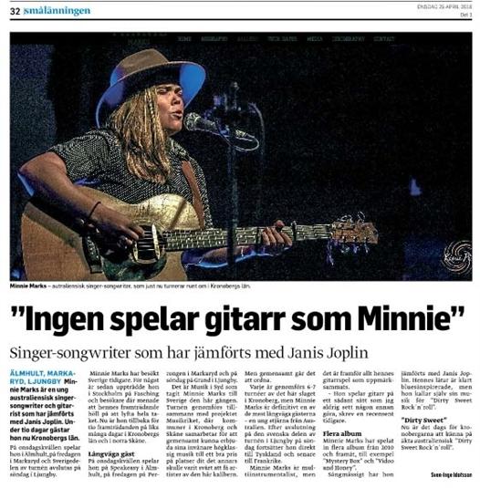 ingen spelar gitarr som minnie - smaalaenningen 18