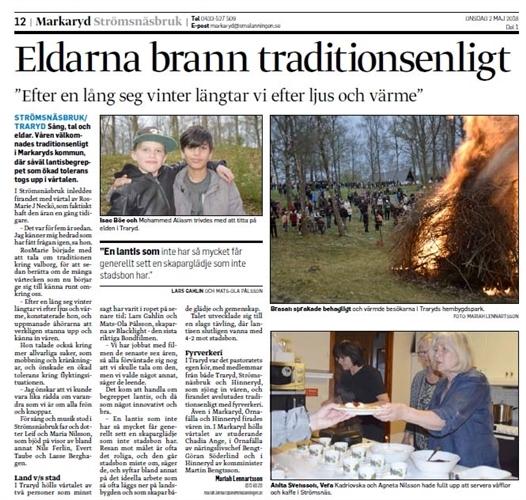 eldarna brann traditionsenligt - smaalaenningen 18