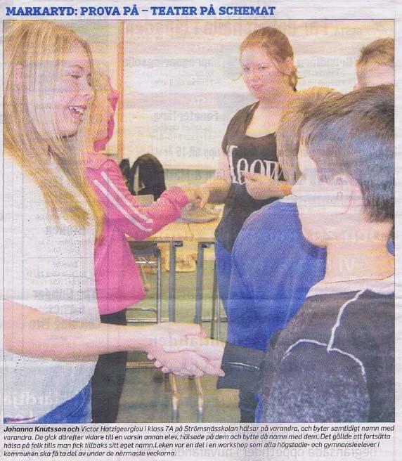 elever fick inblick i teatervaerlden - veckobladet